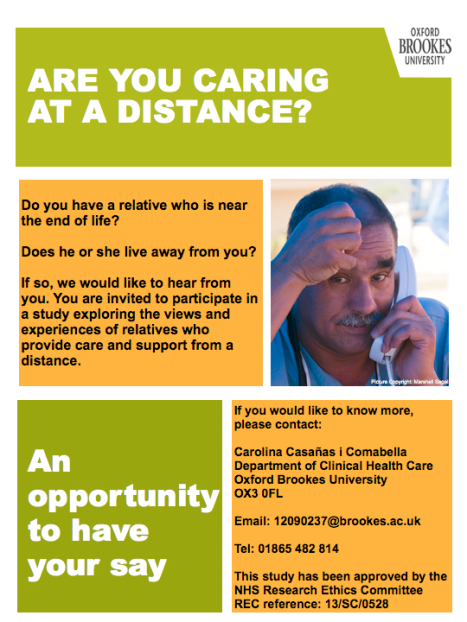 are you caring at a distance